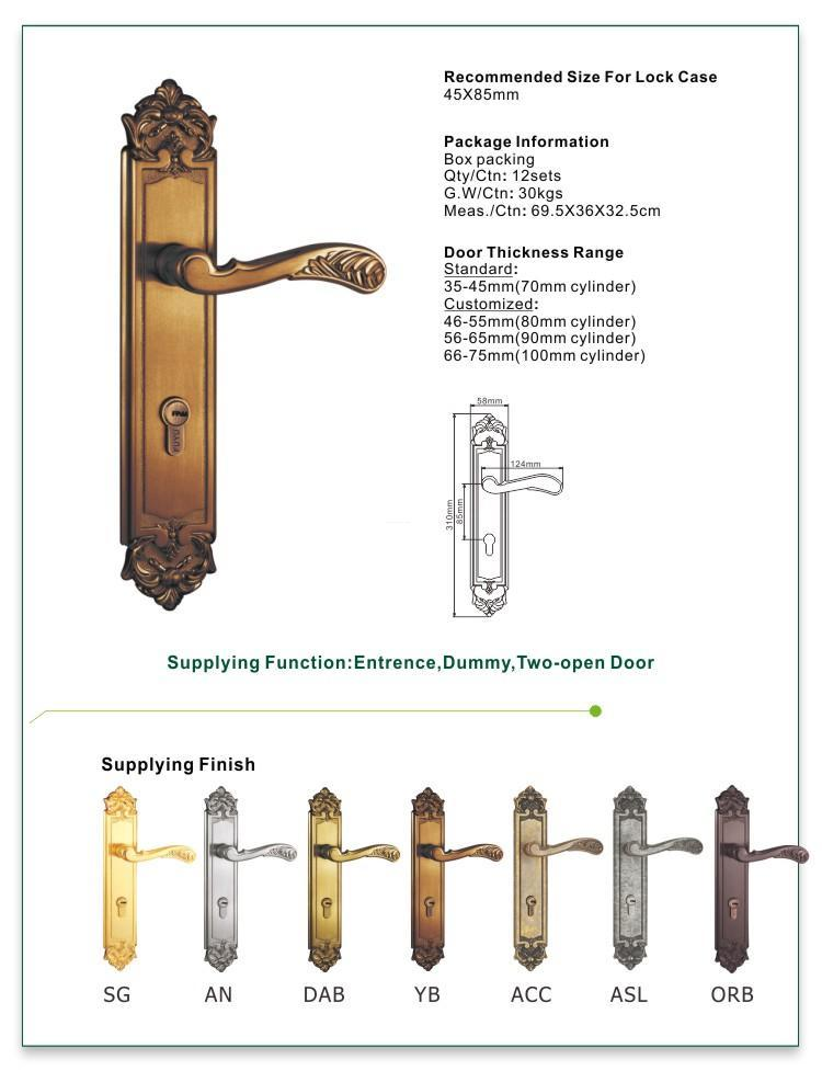 FUYU fittings simple door lock with latch for entry door-1