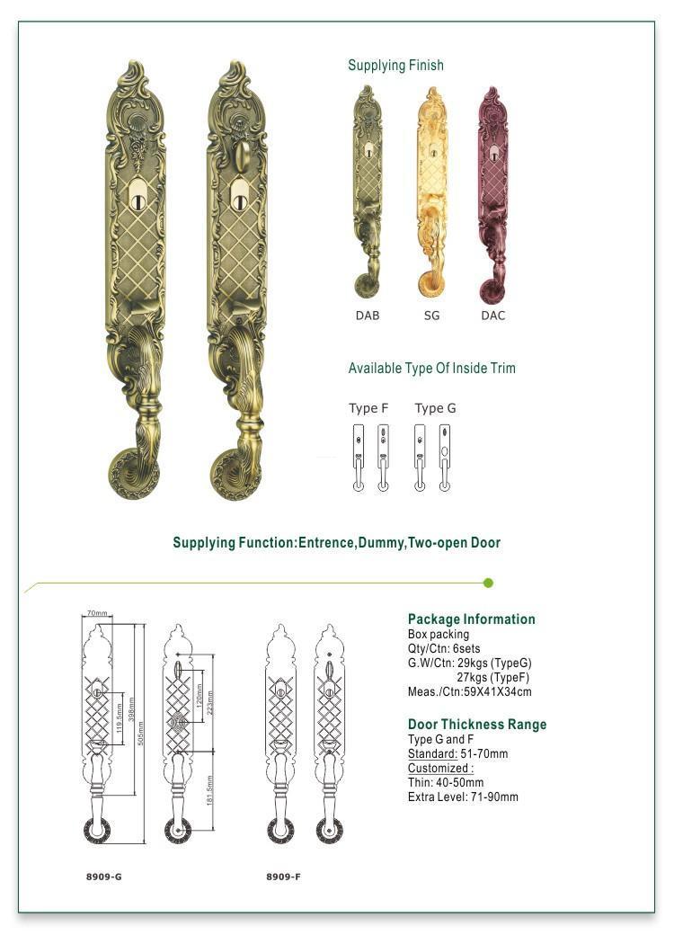 custom grip handle door lock manufacturer for shop-1