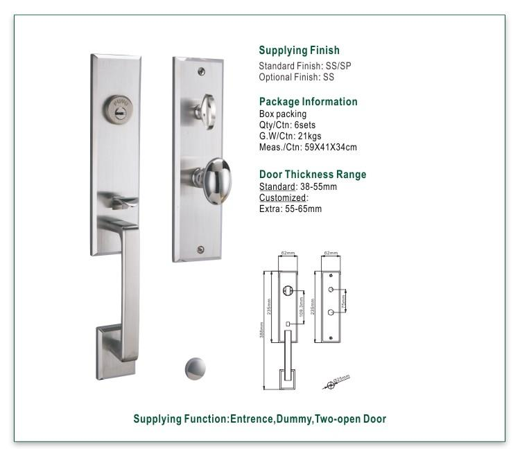 online stainless steel security door lock cylider with international standard for mall-1