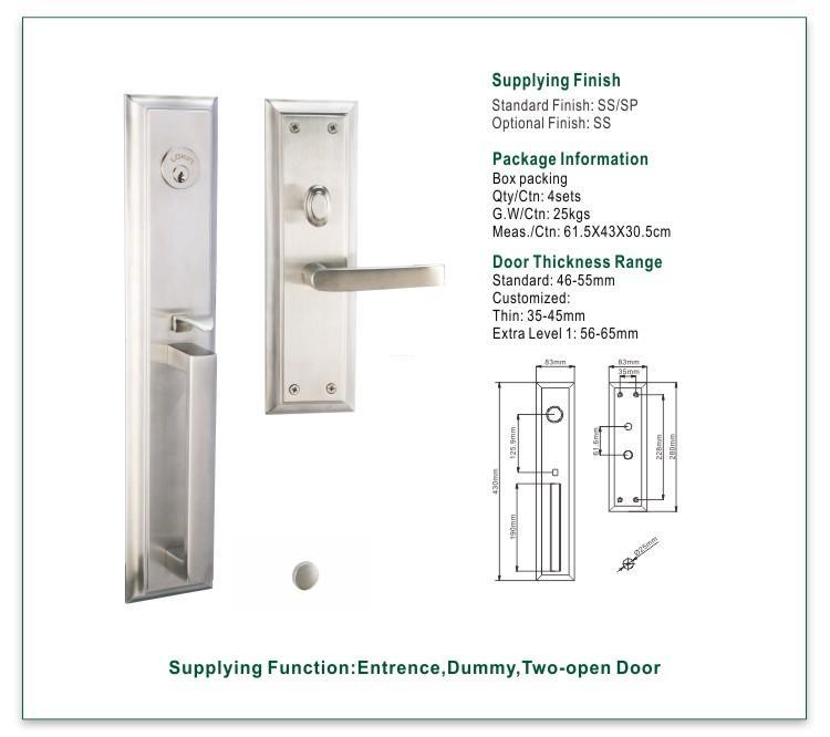 FUYU security stainless steel security door lock extremely security for shop-1