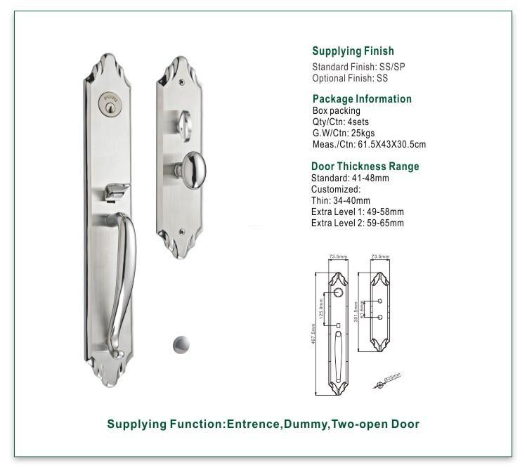 FUYU quality custom stainless steel door lock extremely security for mall-1