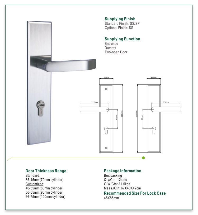 best mortise door handle extremely security for residential-1