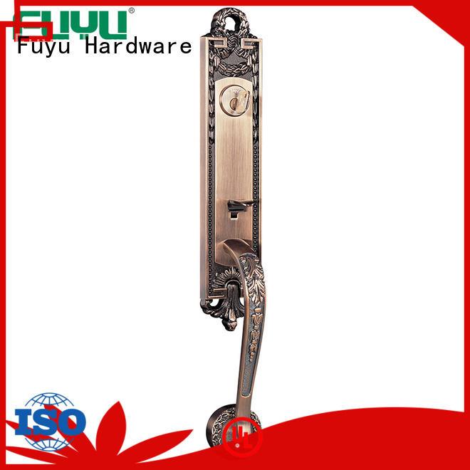 FUYU durable zinc alloy handle door lock with latch for entry door