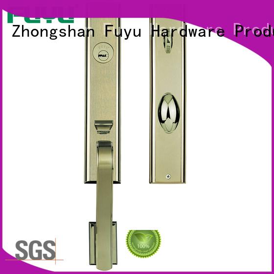 FUYU exterior zinc alloy door lock for timber door with latch for shop