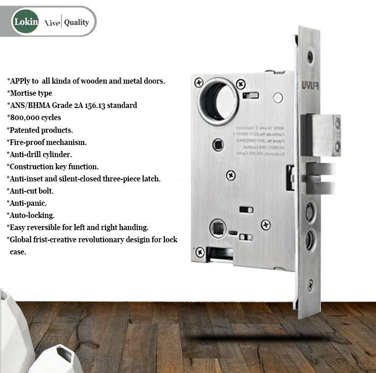durable brass door lock dubai with latch for shop-3