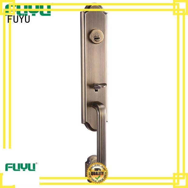 high security zinc alloy door lock for metal door material with latch for entry door