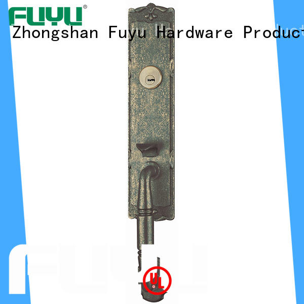 FUYU exterior zinc alloy entrance door lock products mall