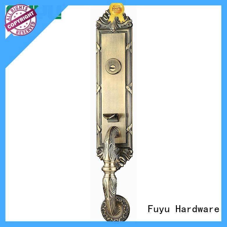 FUYU zinc door lock with latch for entry door