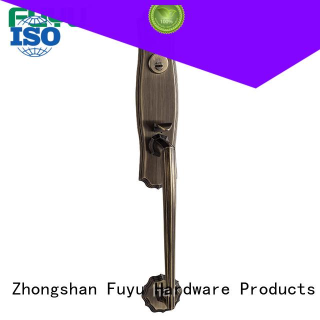 durable door handle lock trim with latch for indoor