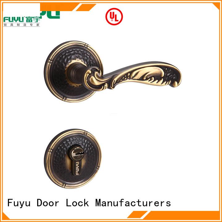 FUYU high security external door lock manufacturer for mall
