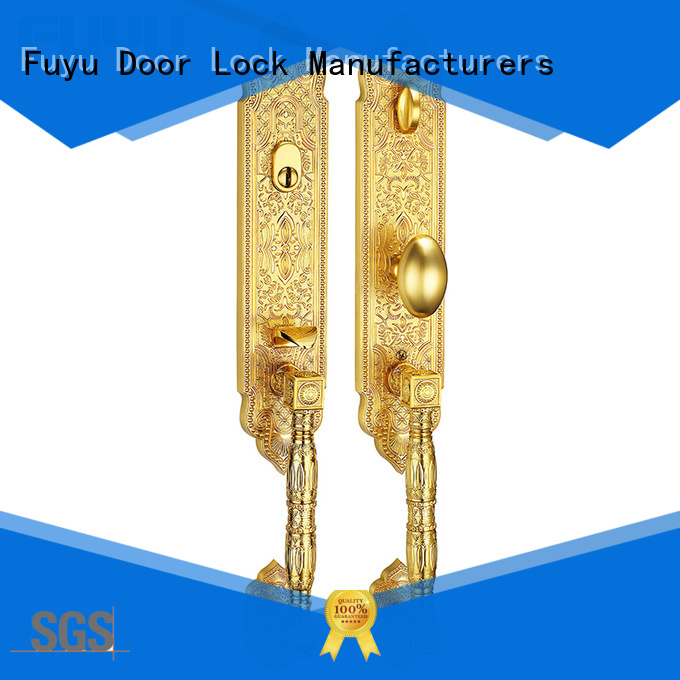 FUYU quality zinc alloy door lock for timber door with latch for mall