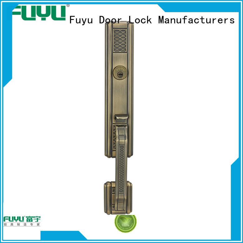 FUYU high security handle door lock manufacturer for entry door