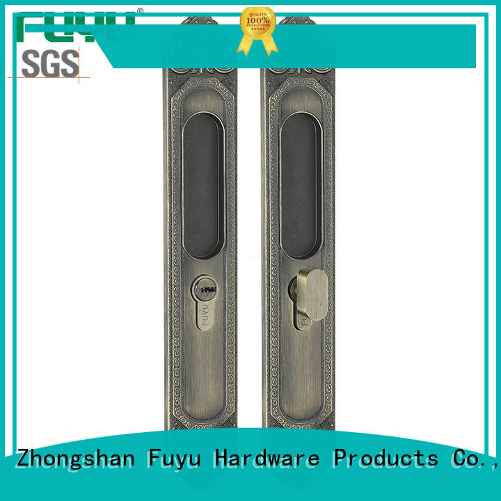 FUYU high quality sliding door lock with key for sale for wooden door