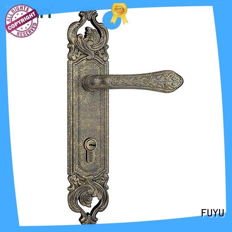 FUYU high security zinc alloy door lock for wood door meet your demands for mall