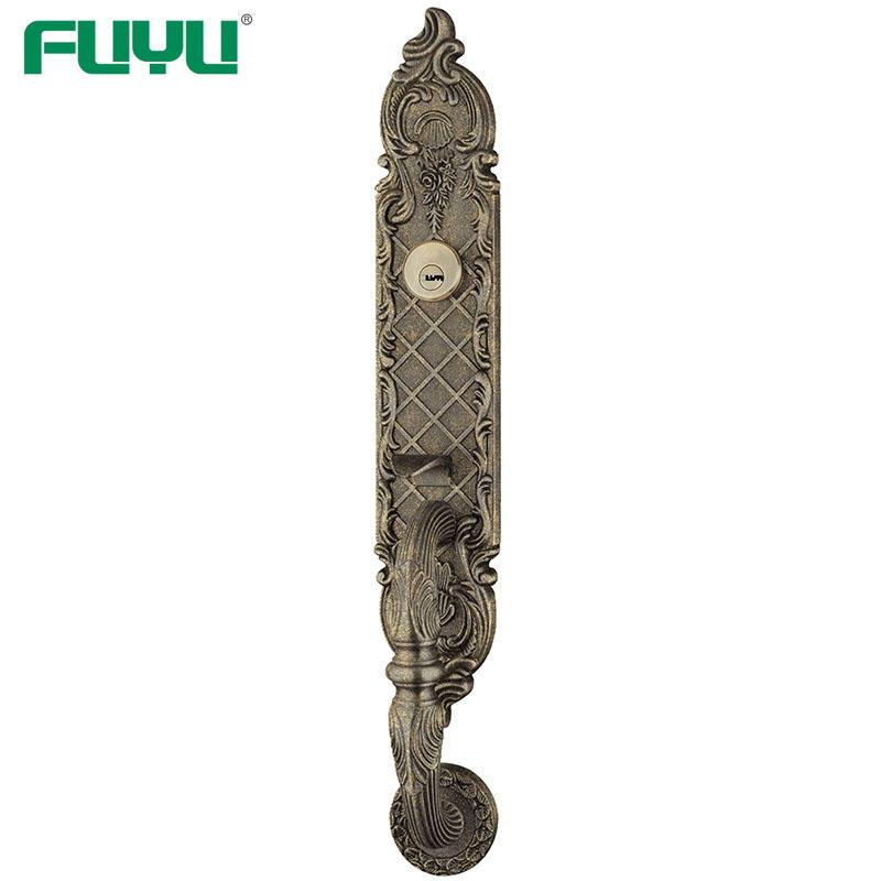 USA style black luxury steel gate Grip handle mortise door lock