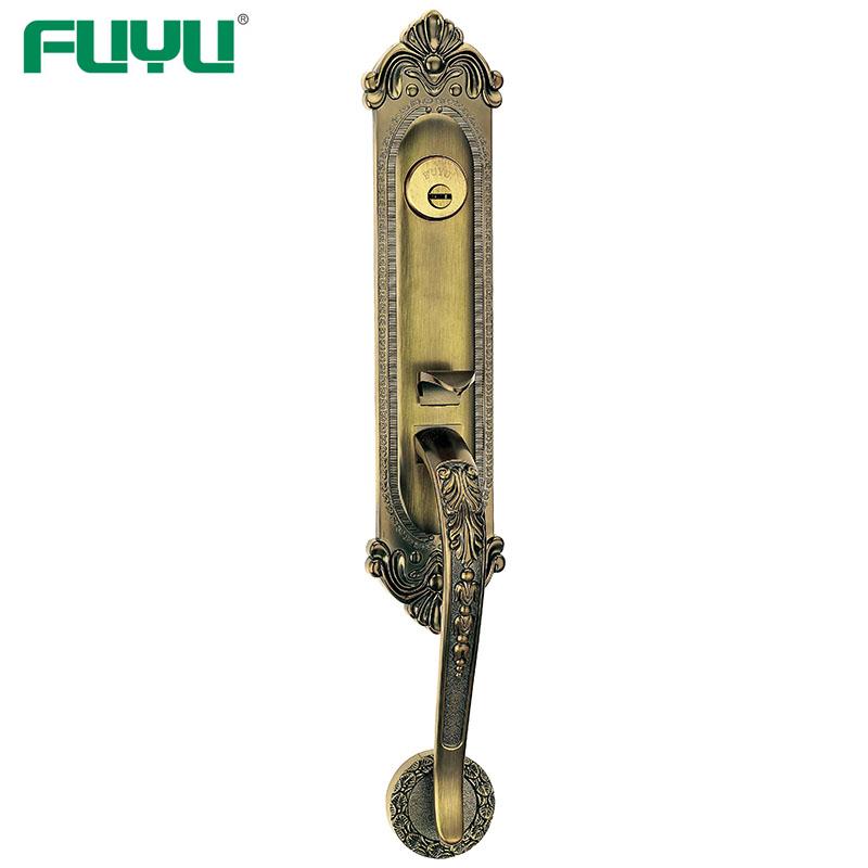 Top Security Double Side Open Cylinder Mortise Grip Handle Door Lock-FUYU-img