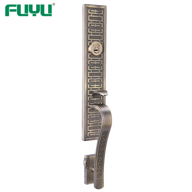 USA style mortise lock zinc alloy lock with polished chrome door handle