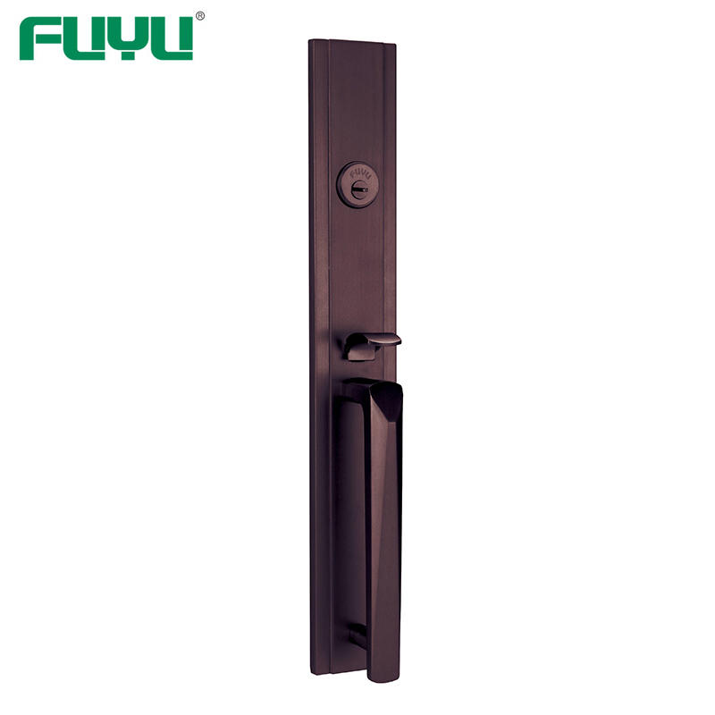 Factory OEM Full Set Luxury Zinc Alloy Mortise Grip Entrance Door Lock