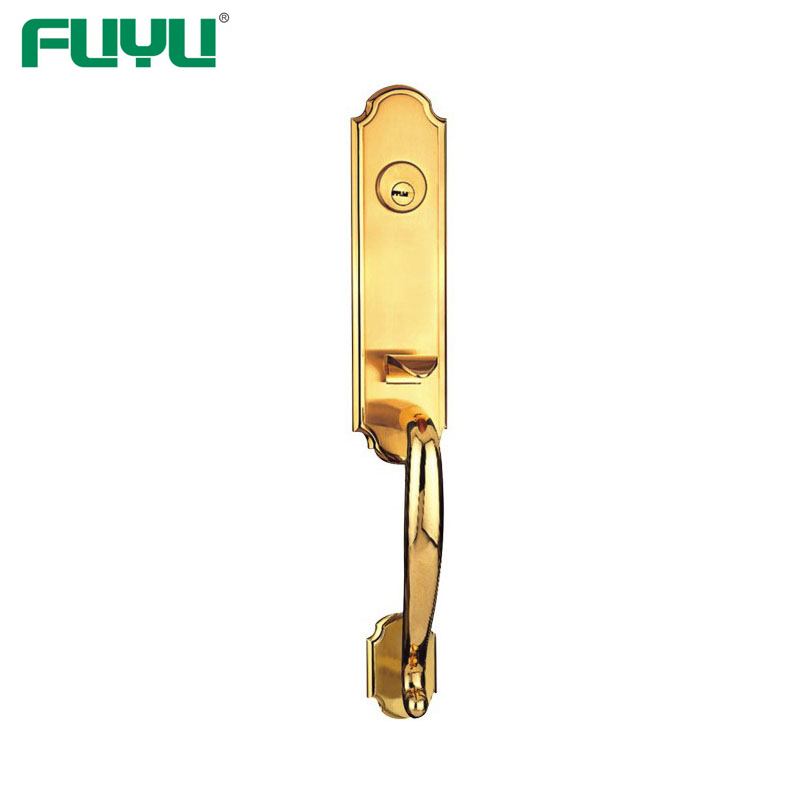 Luxury Entrance Front Door Grip Handle Set Lock For Wood doors
