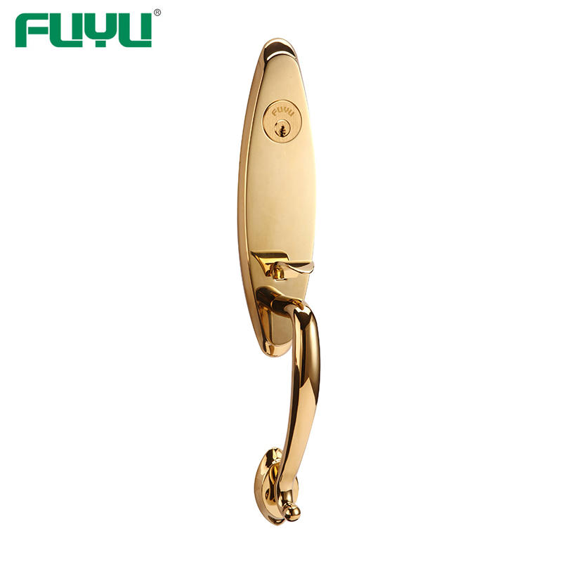 China factory new products 2019 luxury mortise brass door handle lock
