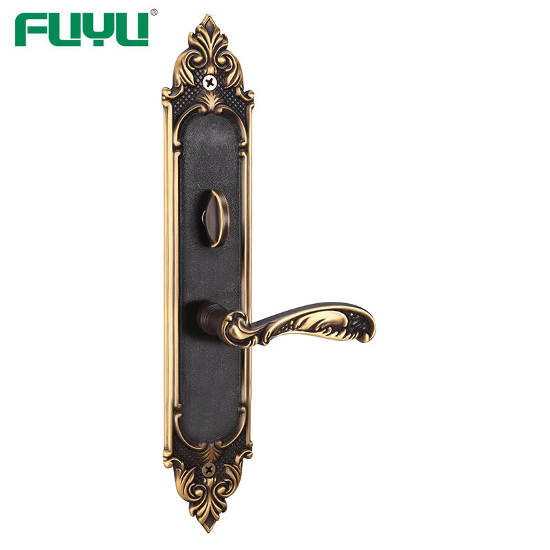 New 2019 external ORB finish brass door handle double door mortise lock