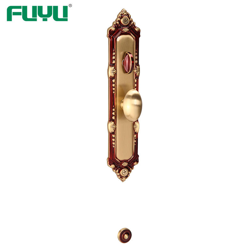 Solid Brass Main Door Single Cylinder Lifetime finish Grip Handle locks