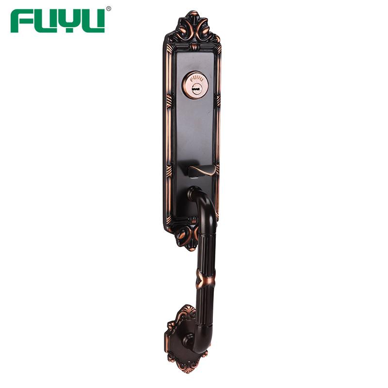 Anti-panic single latch bolt mortise brass door lock for home