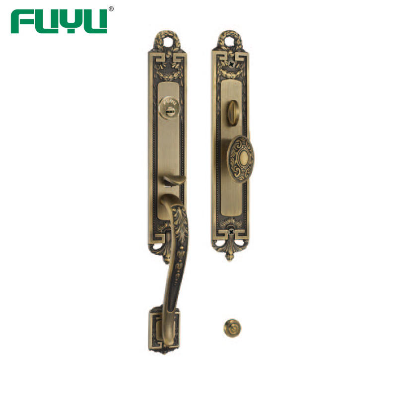 High quality solid brass grip handle locks for villa gate door