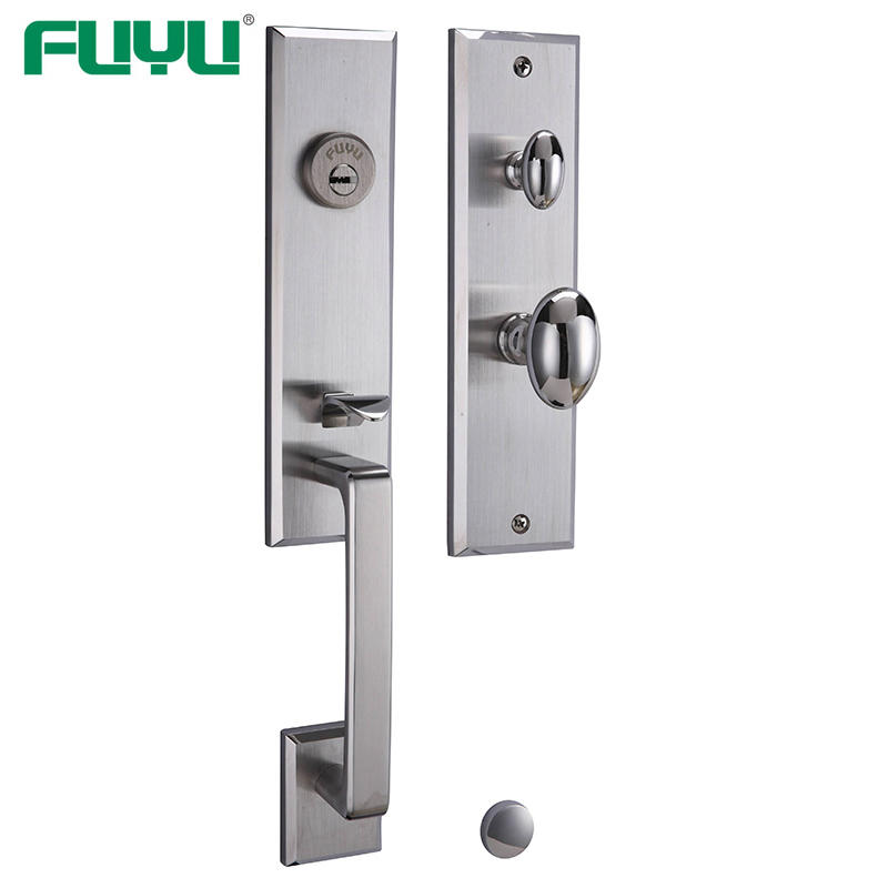 SS 304 grip handle mortise handle lock complete set for wooden door