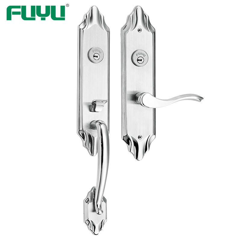 Sus 304 double side entrance door handle lock for two open door