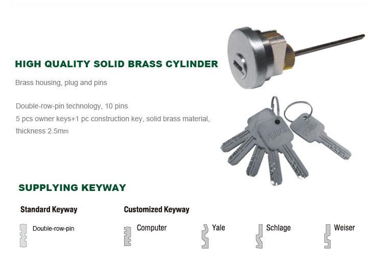 durable stainless steel gate lock with international standard for home FUYU