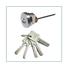 FUYU stronge stainless steel sliding door lock steel for home