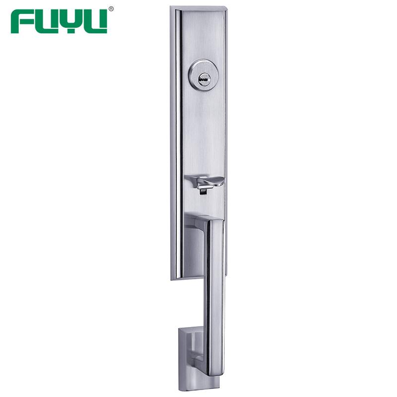 Antique brass grip handle door lock