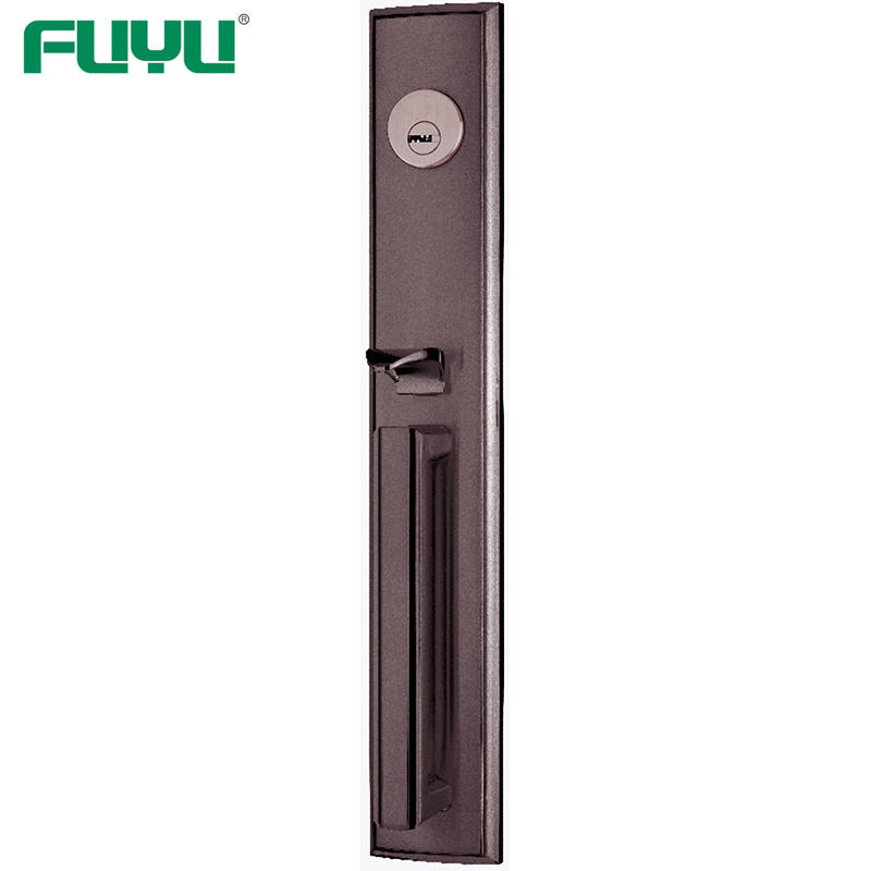 Easy to install tubular security door handle lock for wooden door