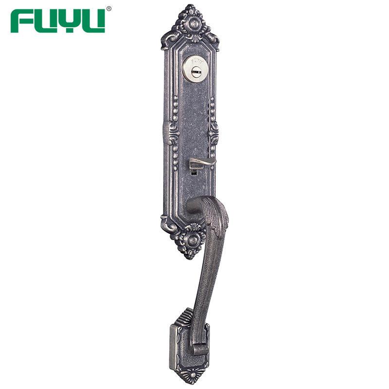 Zinc alloy antique door handles cylinder lock with latch