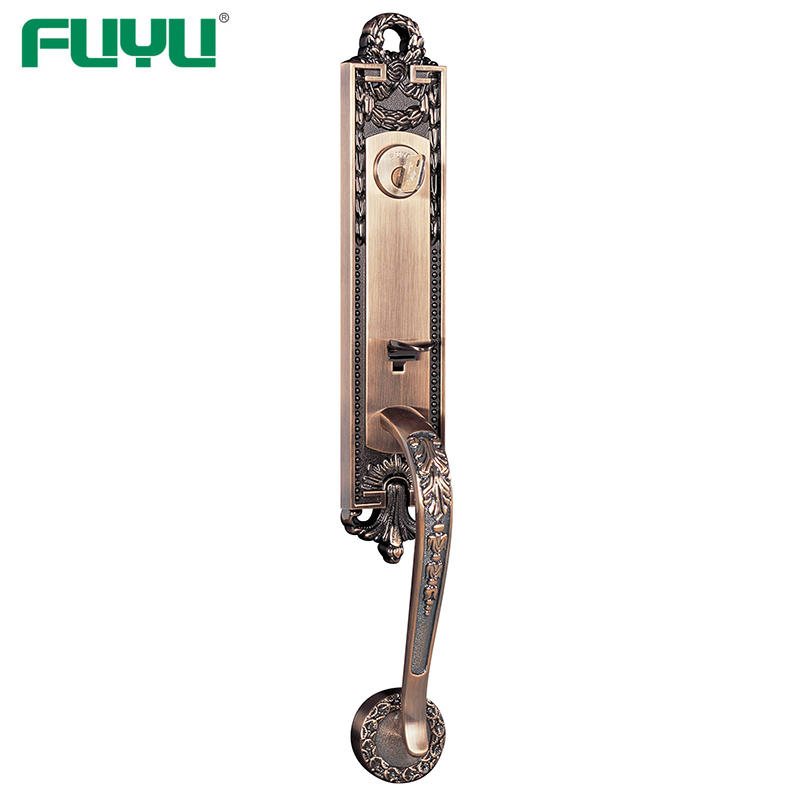 Zinc alloy key handle door lock