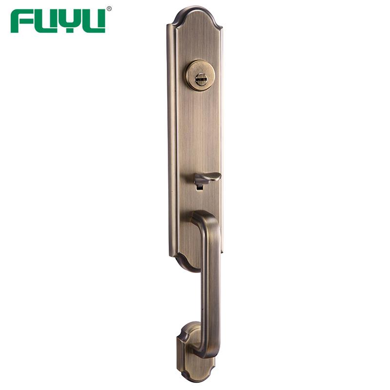 Zinc alloy die-cast European door handle lock for exterior doors