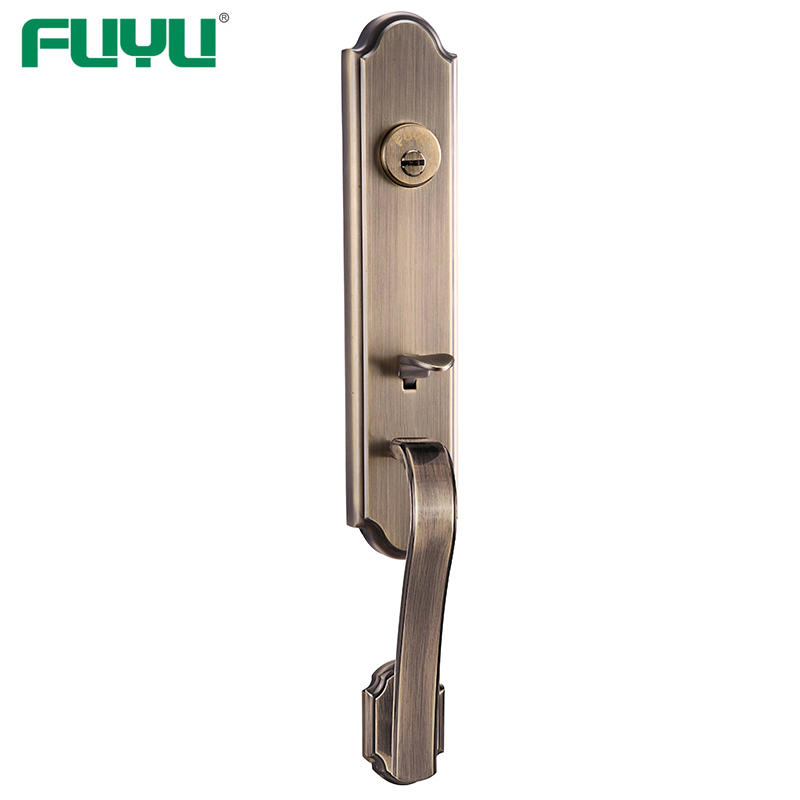 Zinc alloy tubular wooden door locks luxury