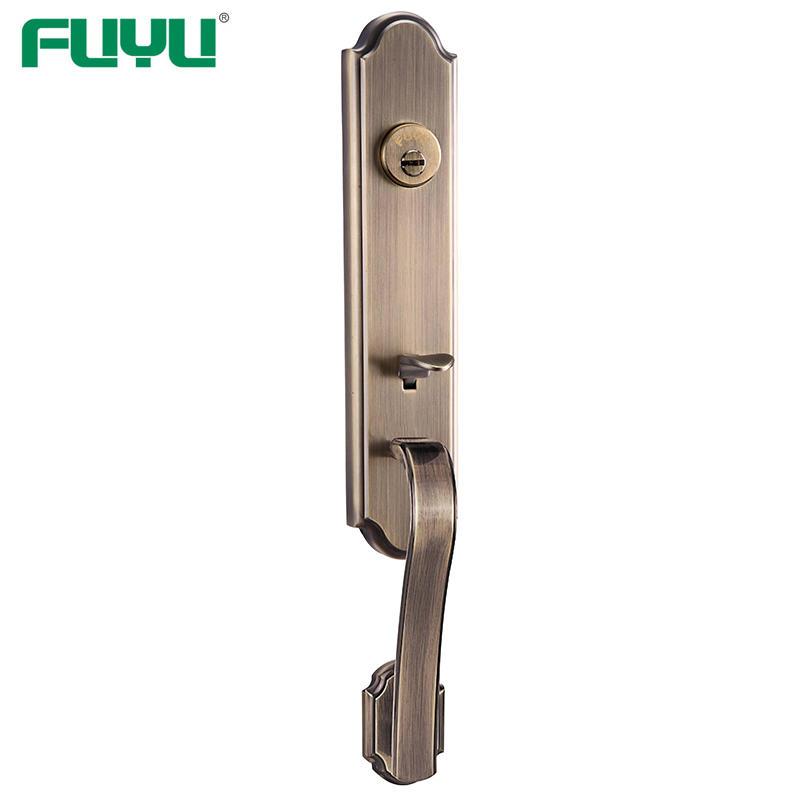 Zinc alloy tubular wooden door locks luxury