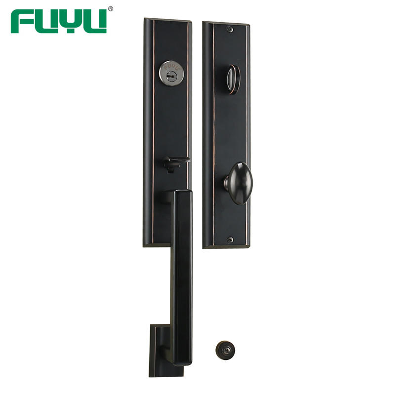 Zinc alloy modern cylinder handle with lock