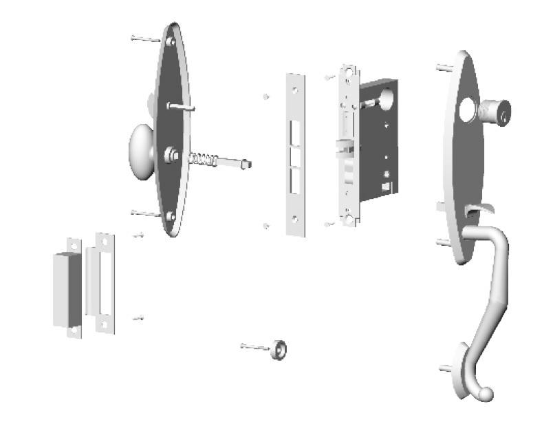 FUYU iron zinc alloy door lock for metal door meet your demands for mall