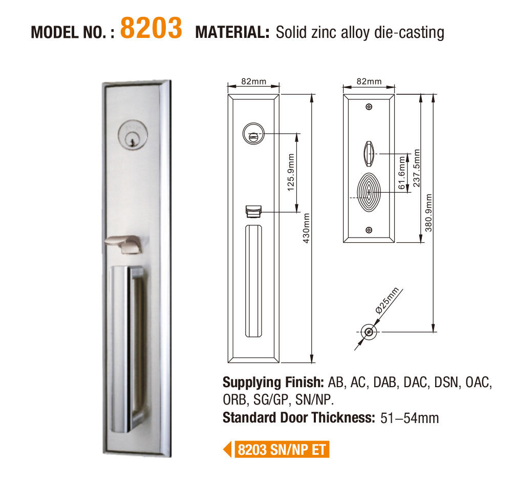 durable zinc alloy mortise door lock front on sale for indoor