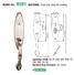 high security grip handle door lock manufacturer for shop