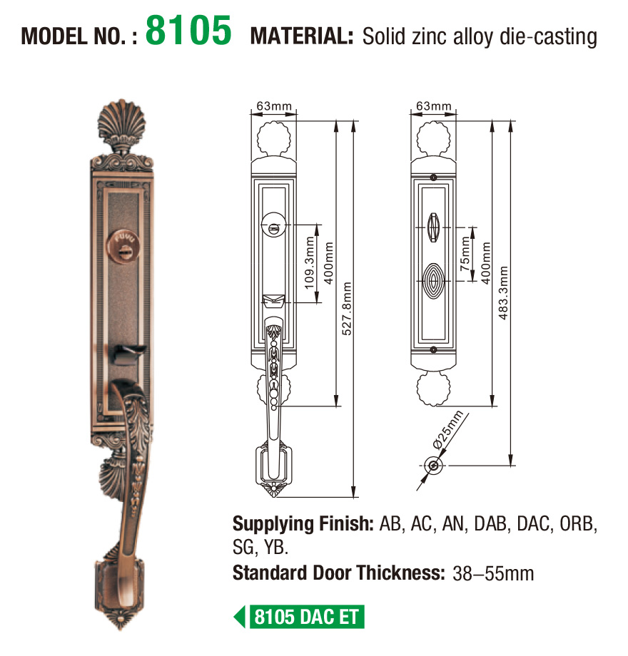 FUYU american door lock supplier for wooden door-4