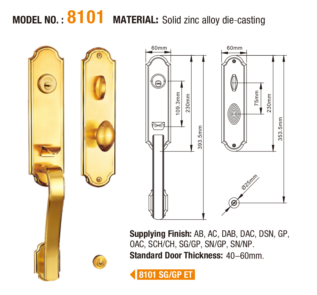 FUYU durable zinc alloy lock on sale for shop-5