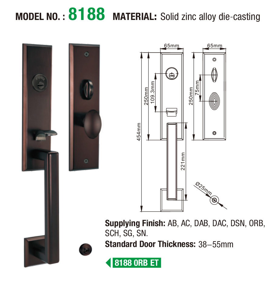 product-Modern Style Front Door Entry Sets Door Lock For Wooden Doors and Metal Doors-FUYU-img
