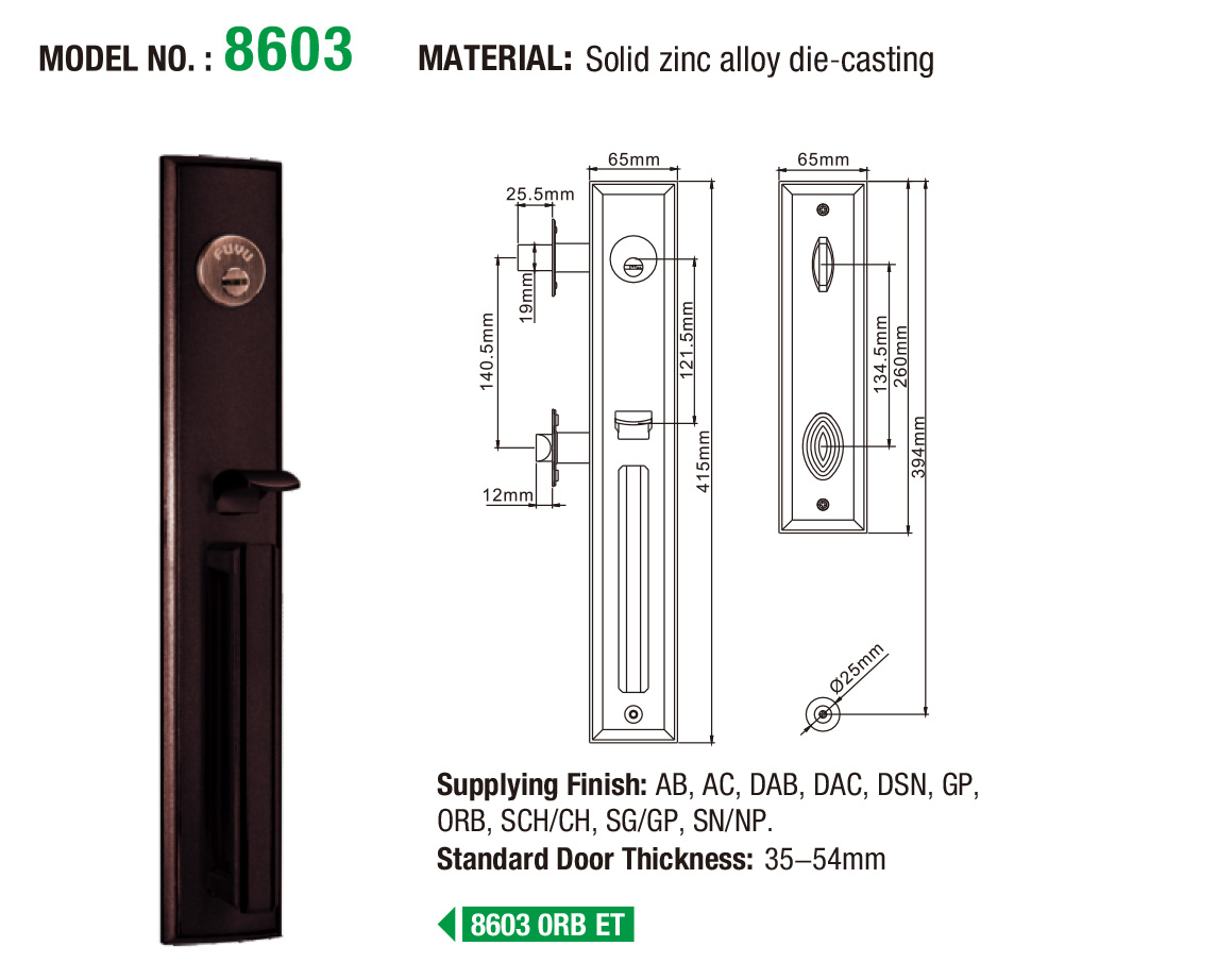 durable zinc alloy mortise door lock turn meet your demands for mall-6