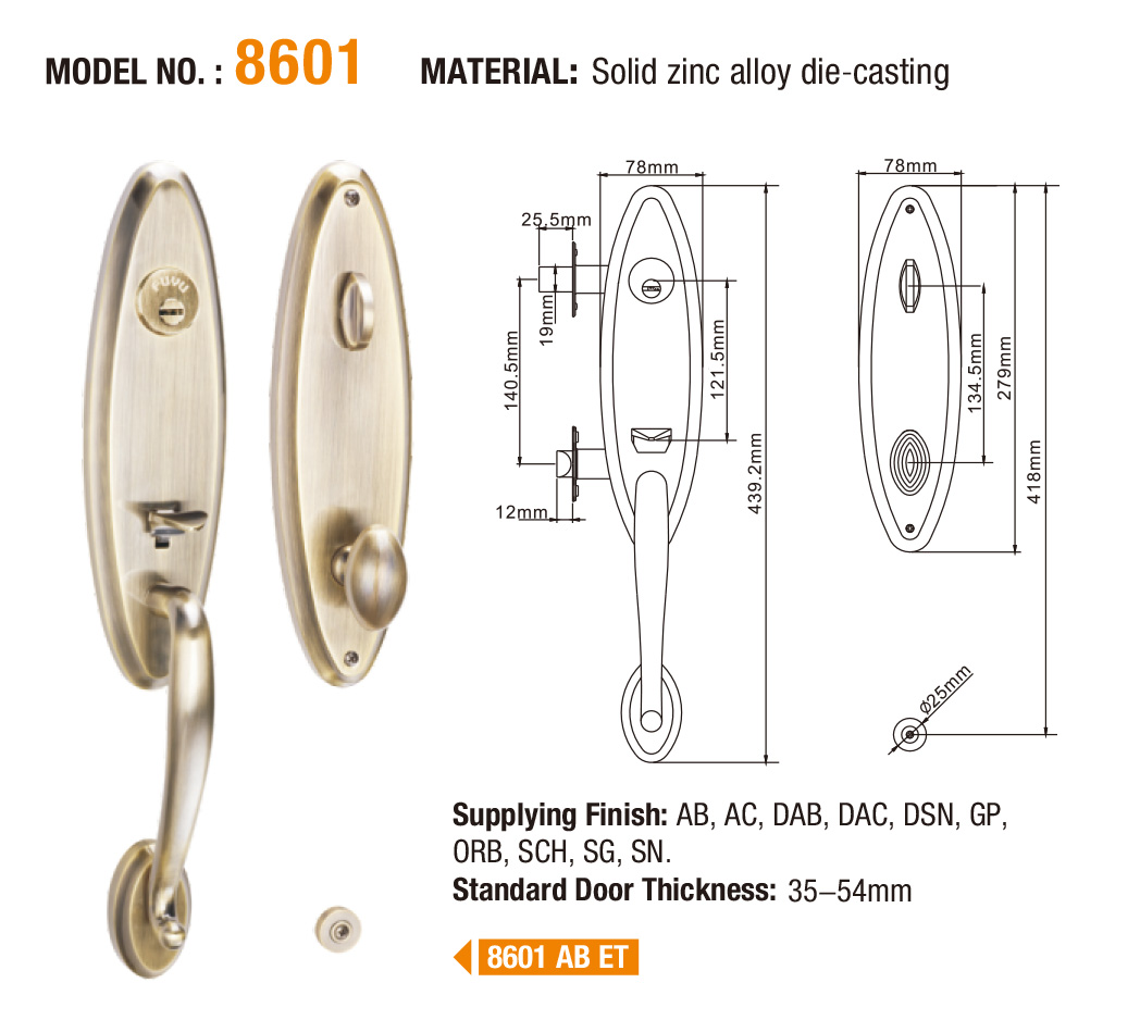 FUYU big tubular cylinder lock on sale for residential-6