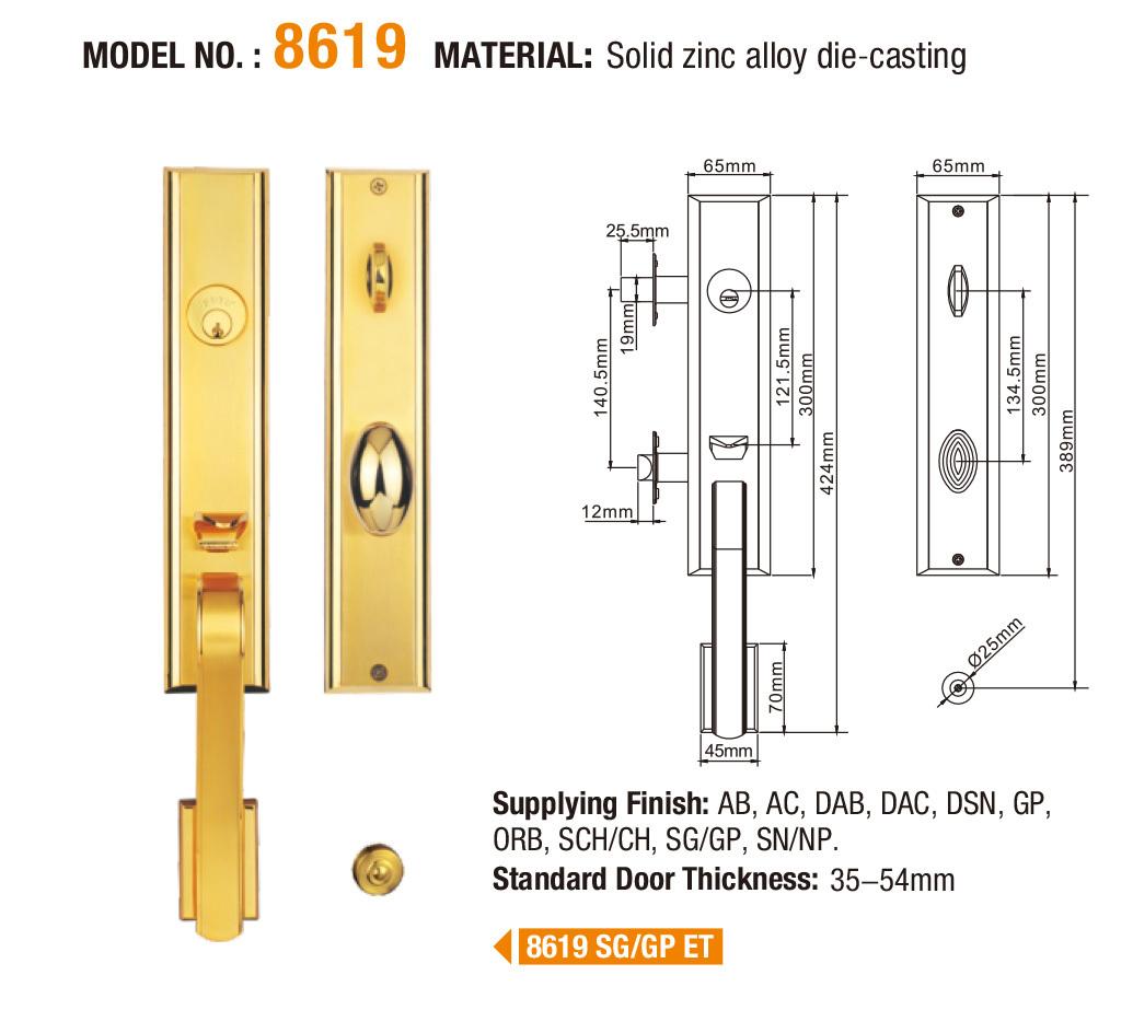 FUYU custom zinc alloy door lock wholesale with latch for shop