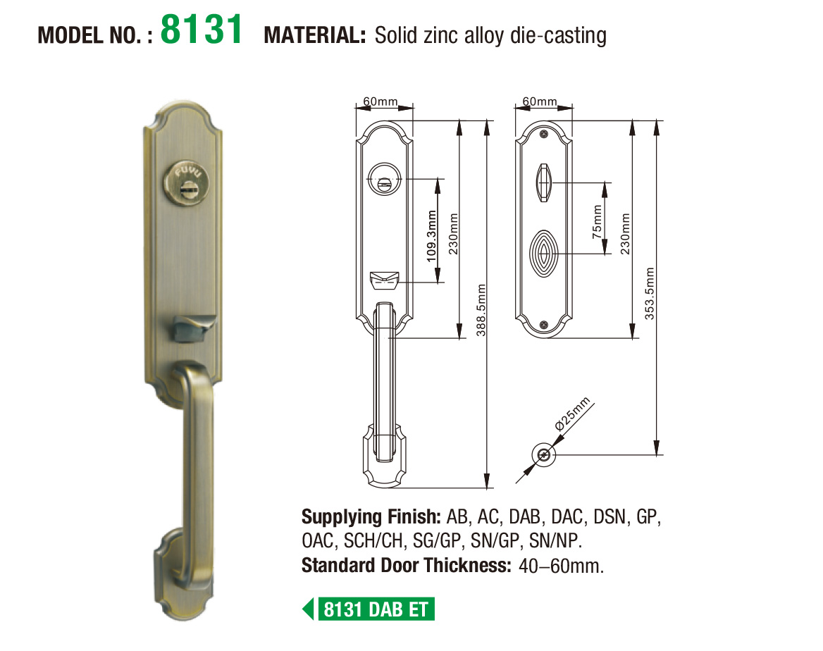 FUYU grip handle door lock for sale for shop-5